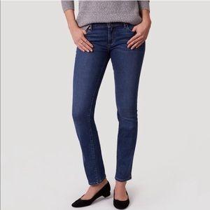 Ann Taylor Loft Curvy Straight Cut Medium Jeans